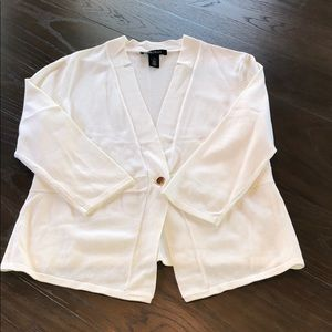 WHBM White One Button Cardigan Small Excellent